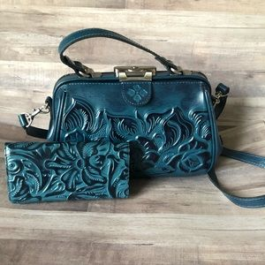 Patricia Nash Tooled Leather Crossbody & Wallet